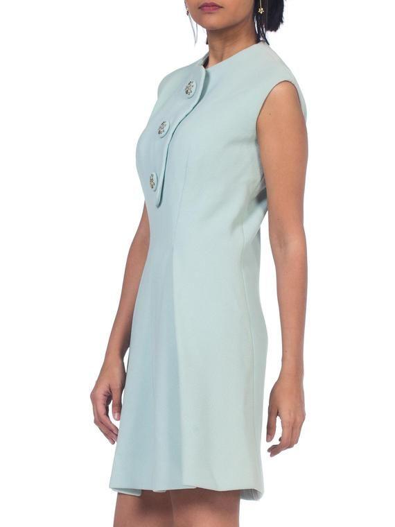 4ff670fb86a2 1960s-mint Green Pauline Trigere Mod Mini Dress Size: XS in 2019 ...