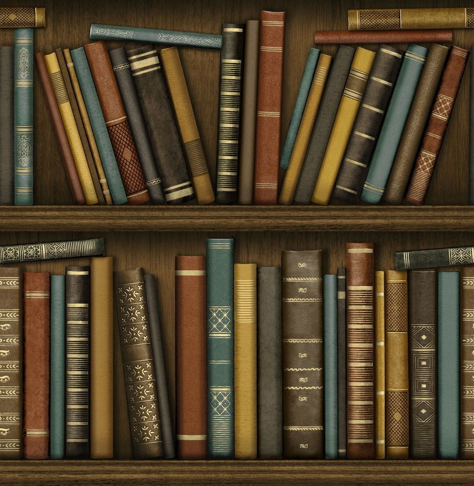 This Wallpaper From Fine Decor Has A Realistic Bookshelf Design Creating A Wonderfully Classic And Atmospheric Library Eff Book Wallpaper Bookcase Wallpaper Uk