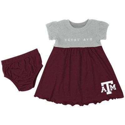 Texas A&M Aggies Infant Girls Cupid Dress & Bloomer Set - Maroon/Gray