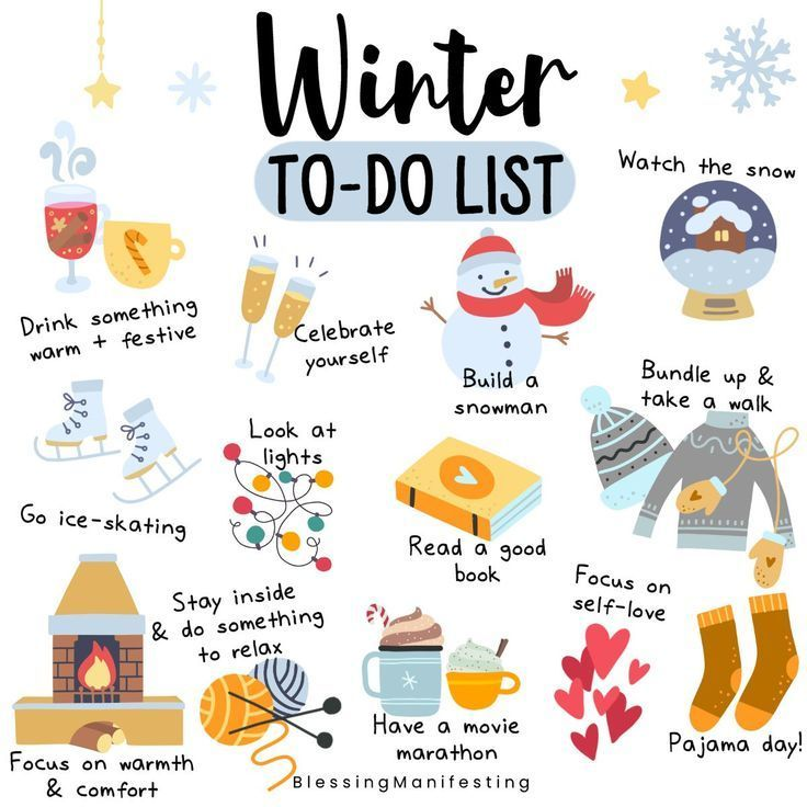 Winter To-Do List & Free December Self-Love Workbook Pages #fallseason