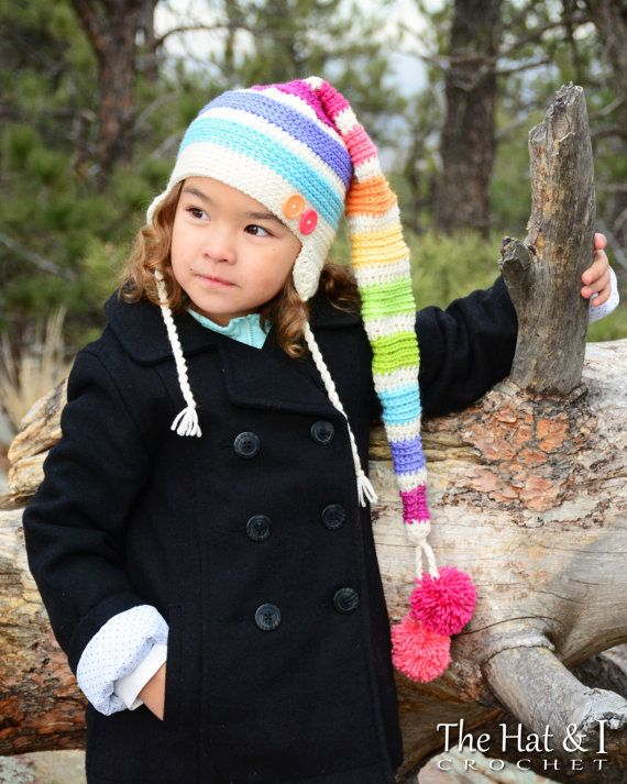 crochet pattern everyday elf hat a colorful long tailed elf hat
