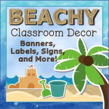 Beach Theme Classroom Decor Bundle With Images Beach Theme