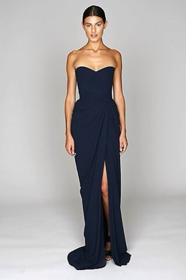 1000  images about Navy Gown on Pinterest | Strapless dress, Gowns ...