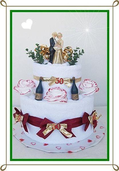 Goldene Hochzeit Handtuch Torte von GeschenkeEckle auf