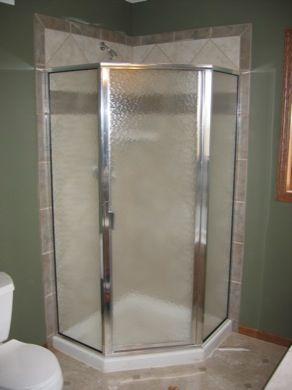 Custom Semi Frameless Glass Shower Enclosures Mn Neo Angle