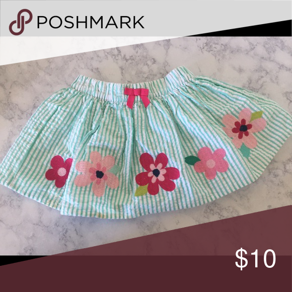 Summer skirt! Summer pink white and teal skirt. Really fun and playful! Gymboree Bottoms Skirts