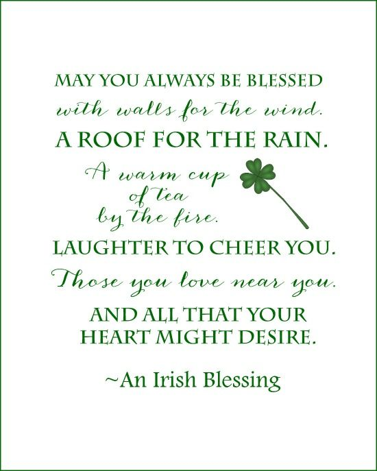 picture relating to Printable Irish Blessing named Irish Blessing Cost-free Printables for St. Patricks Working day: 3
