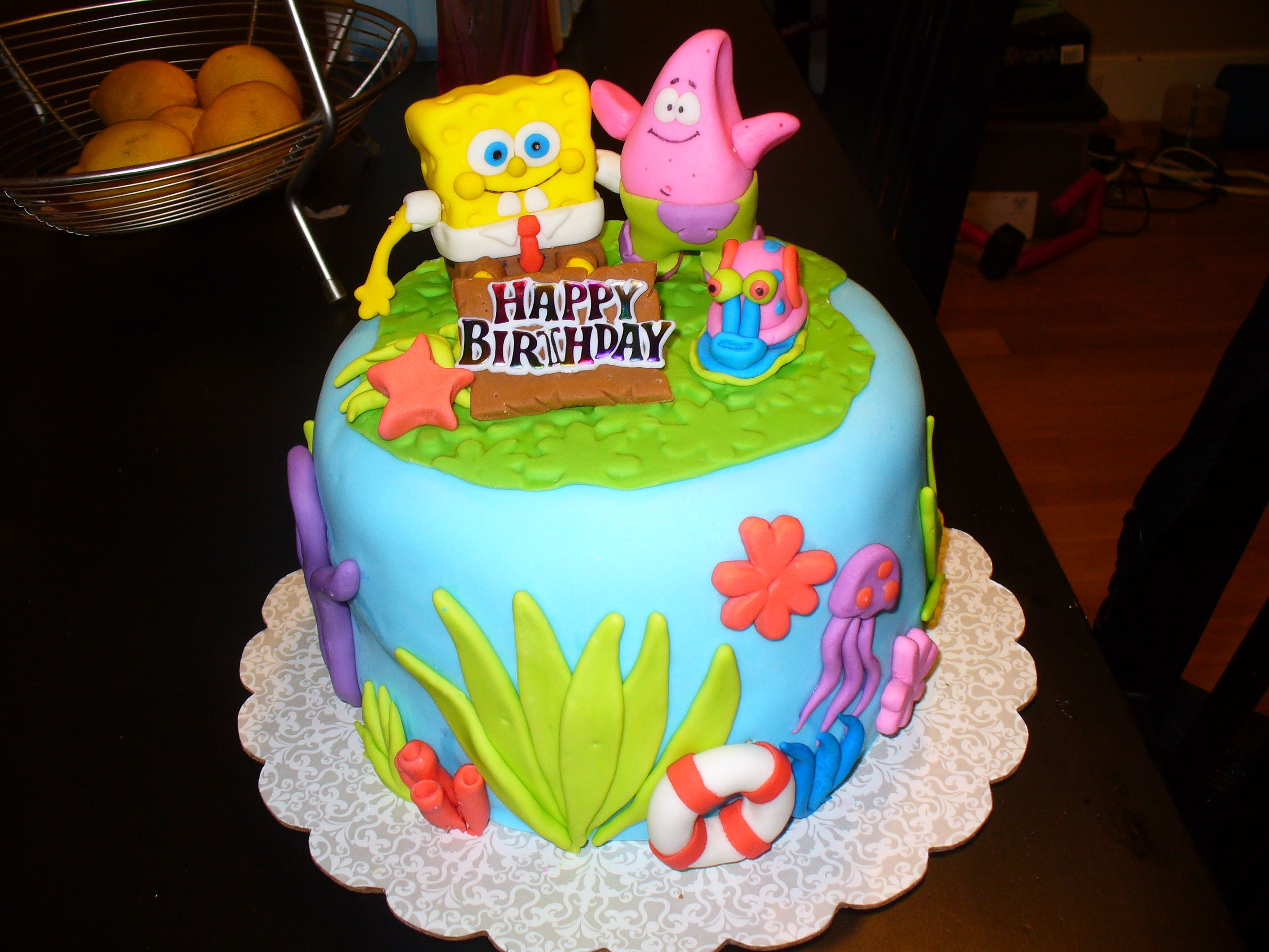 Spongebob Squarepants Birthday Cake HAPPY CAKES Pinterest - Happy birthday bob cake