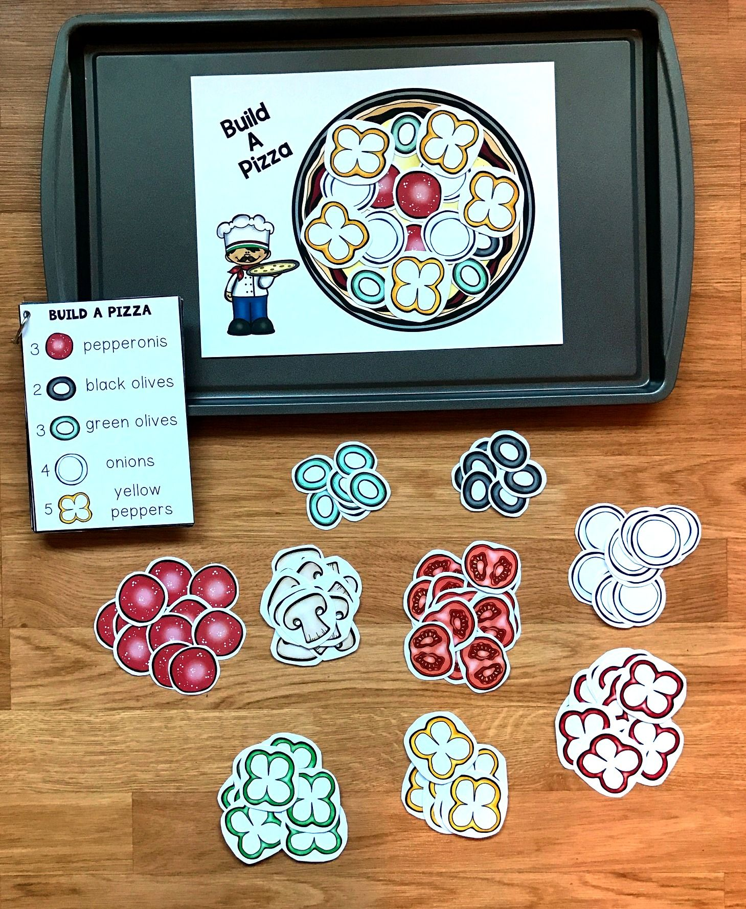 Building Pizzas Can Be Set Up As Cookie Sheet Activities
