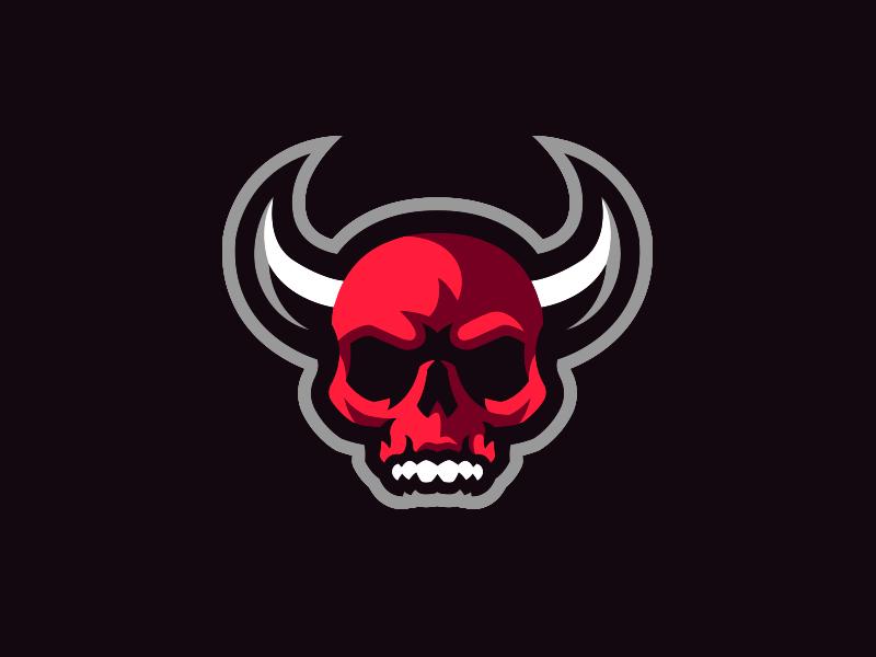 Demon Skull Mascot Logo