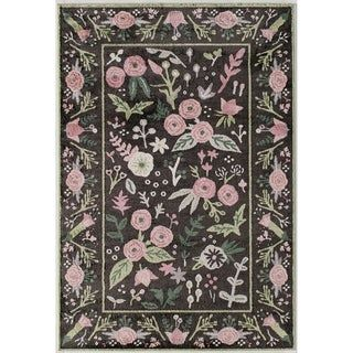 Valentina Gardenia Modern Floral Transitional Area Rug By Rugs