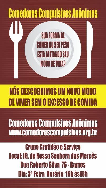 Cartão de Visita Organização: Comedores Compulsivos   Cartão de ...