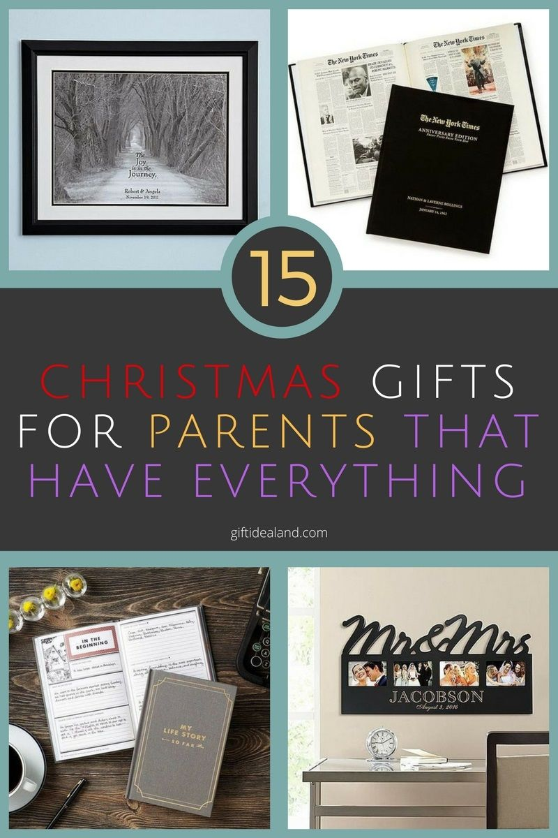 15 great christmas gifts for parents who have everything
