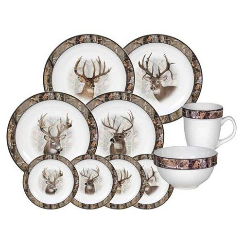 REP Deer/Camo 16 Piece Dinnerware 940  sc 1 st  Pinterest & REP Deer/Camo 16 Piece Dinnerware 940   i \u003c3 camo!   Pinterest ...