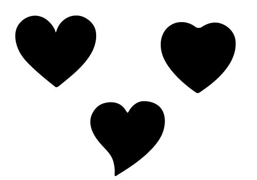 Free Three Heart Shape Silhouette for this valentine' s day 2014 ...