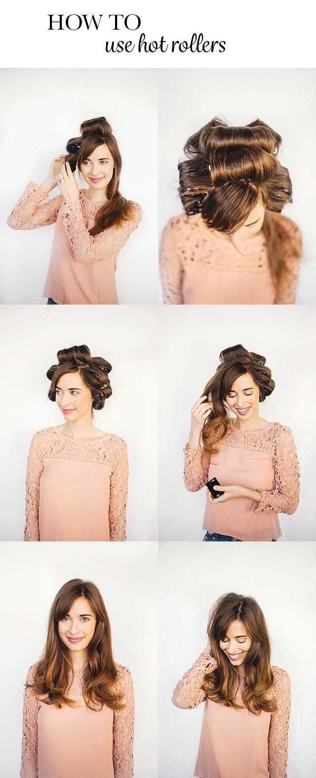 How to Use Hot Rollers For Long Hair M Loves M Hot rollers Hair