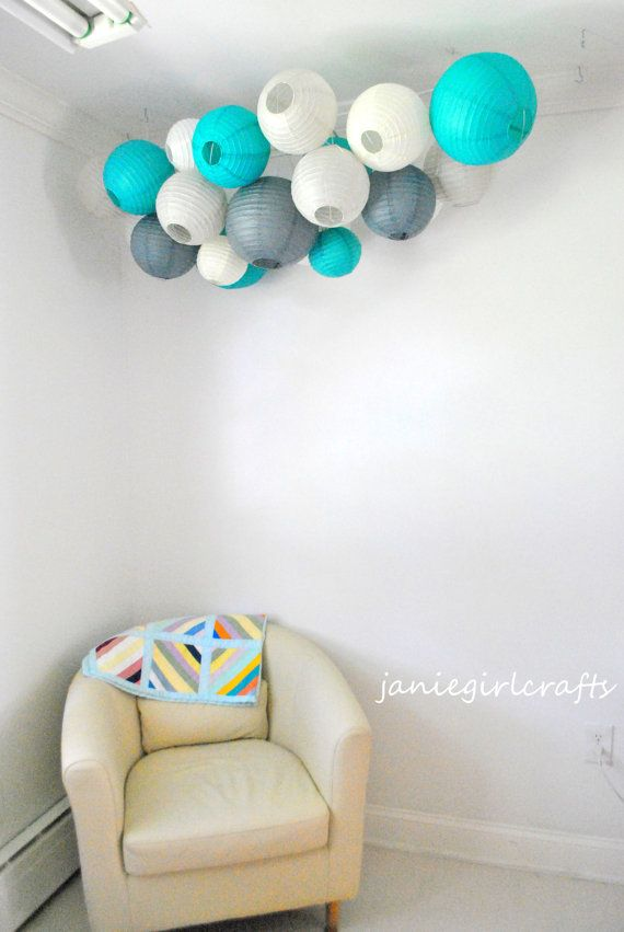 Customizable Large Paper Lantern Cluster Mobiles 12000