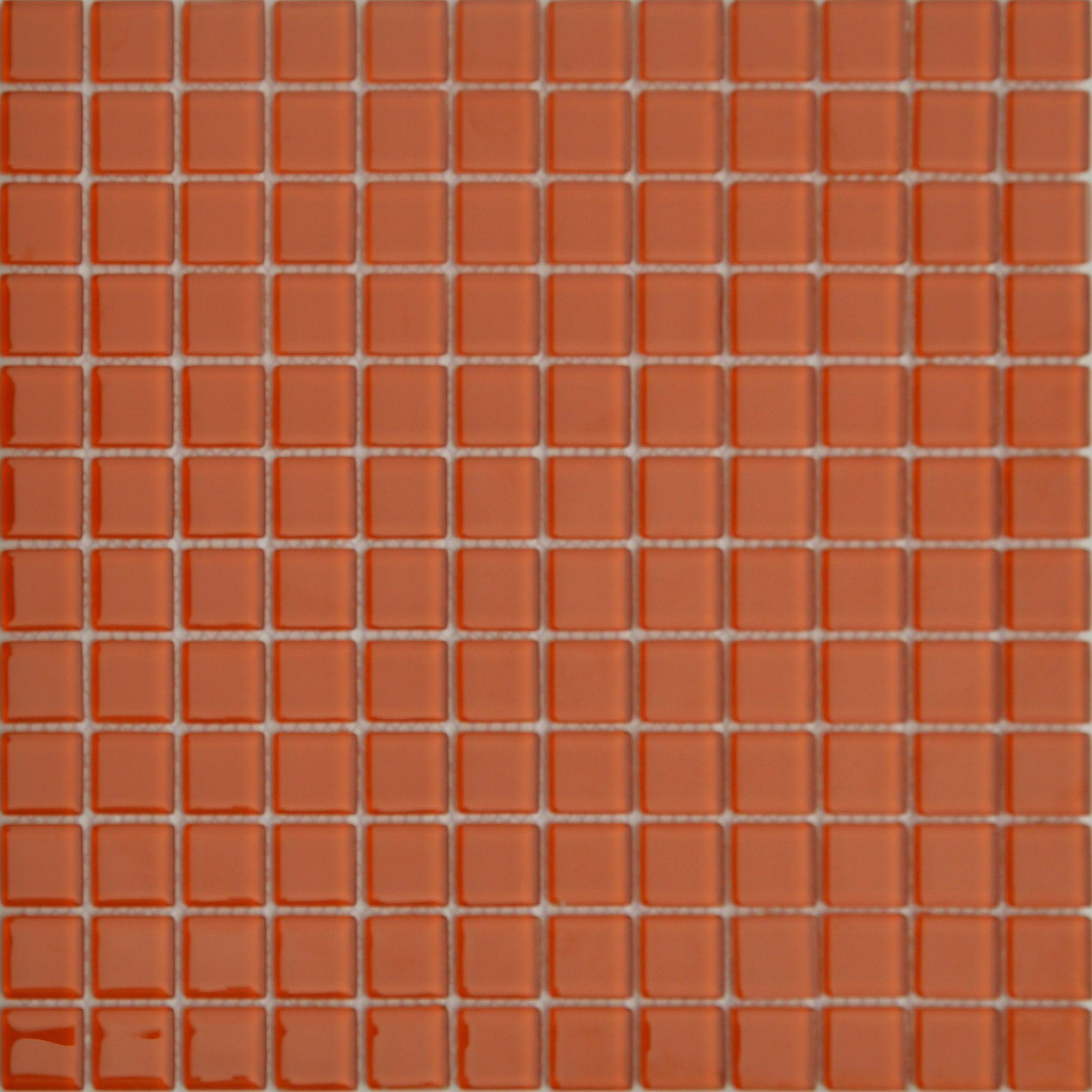 MOSAICOS DE CRISTAL: CRISTAL NARANJA 30x30 cm