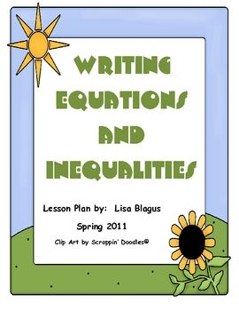 Writing Equations And Inequalities Real World Examples Problems Math For 6th Graders Writing Equations Teaching Algebra