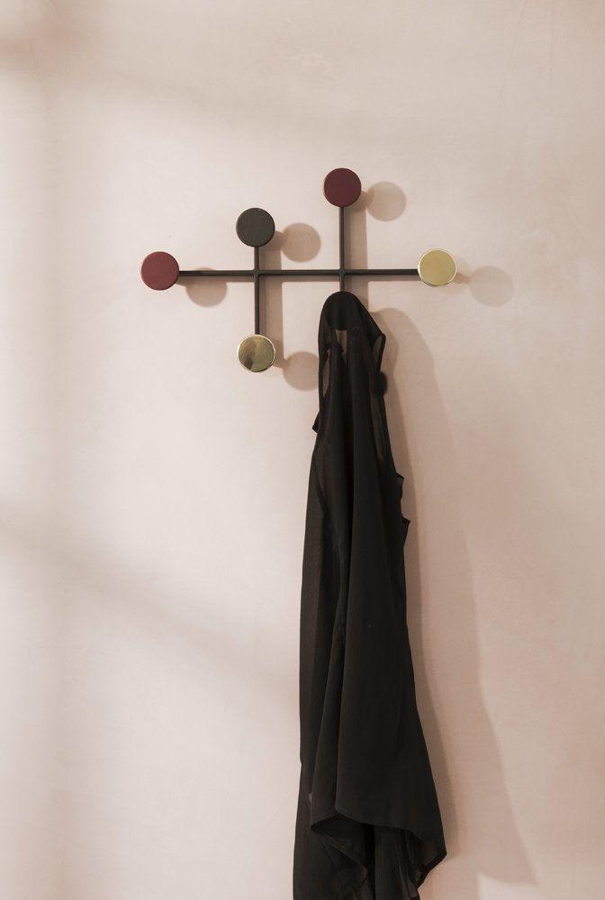 Menu Afteroom Coat Hanger Wand Garderobe Schwarz Kupfer