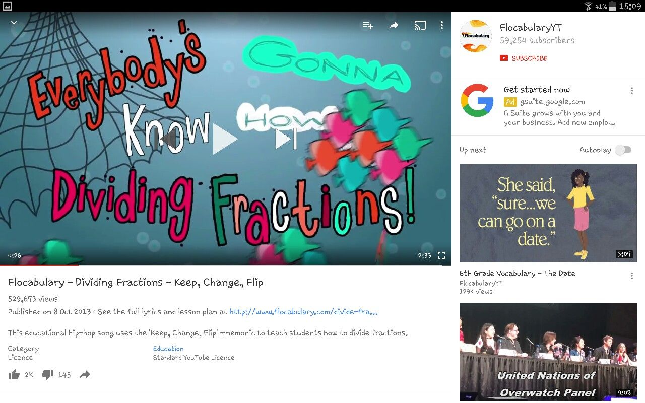 Dividing Fractions Video From Flocaabuoary S Youtu