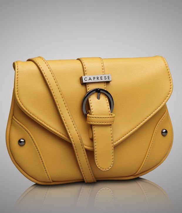 Caprese CHCLASMLYEW Yellow Sling Bags, http://www.snapdeal.com ...