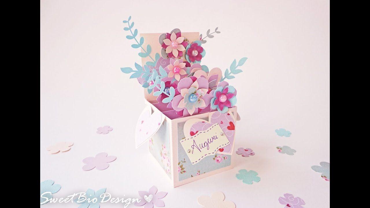 Scatola Fiori Pop Up Card Pop Up 3d Flowers Youtube Cartoncini Pop Up Cartoncino Colorato