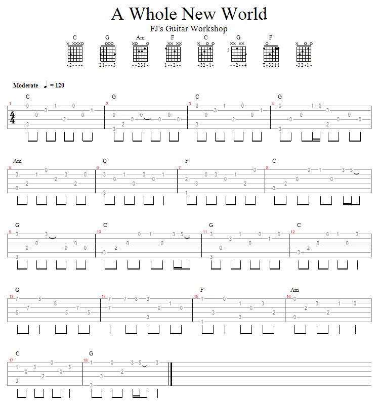 the whole new world ukulele