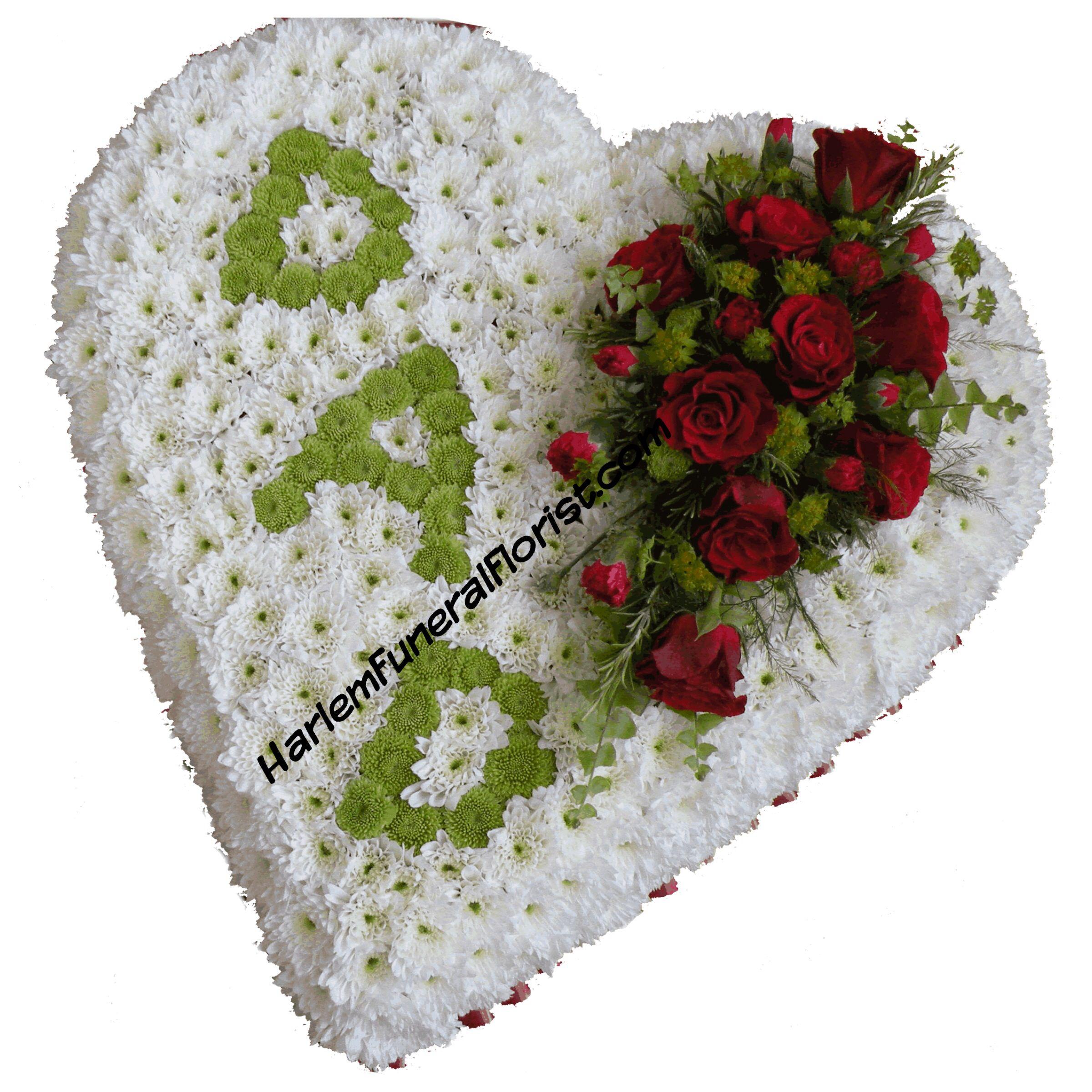 """DAD"" Heart Funeral flower arrangements, Funeral flowers"