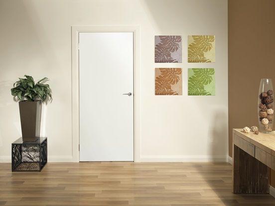 Example Of An External Flush Panel Door: Garage Into Laundry