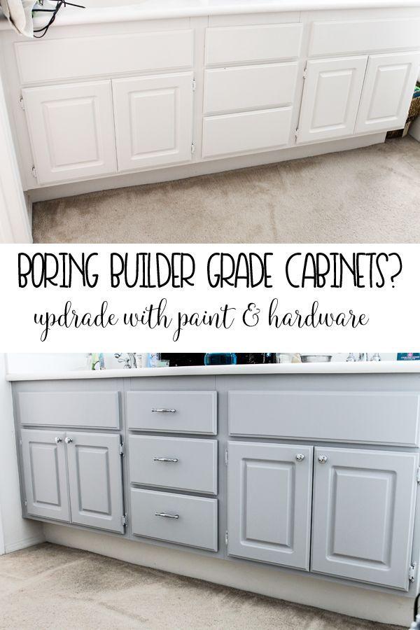 Upgrade your Boring Builder Grade bathroom cabinets | Crazy for DIY ...