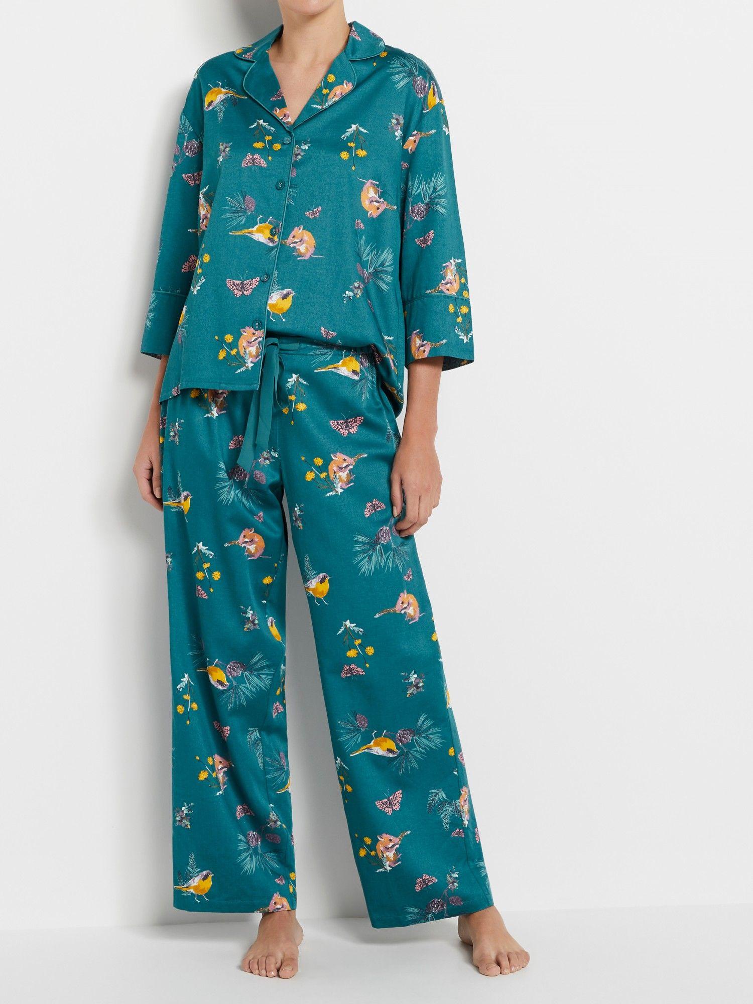 Woodland Print Pyjama Set Sleep Print pajamas, Pajama