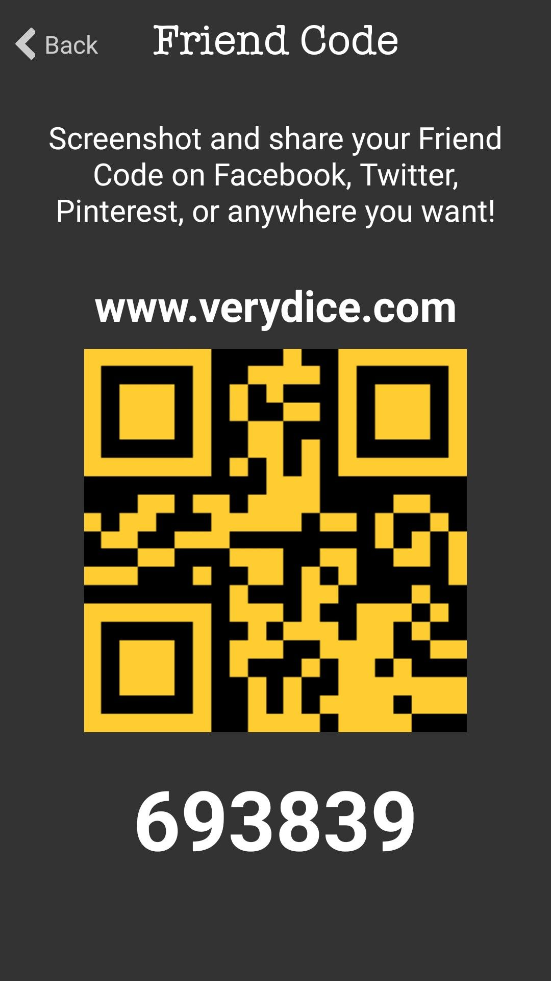 Get free stuff download the verydice app and enter my code