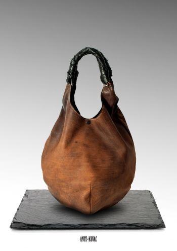 2b96f45be0b1 Сумка-мешок в шоколадном - Ante Kovac : сумки на заказ, авторские сумки,  эксклюзивные сумки, необычные сумки