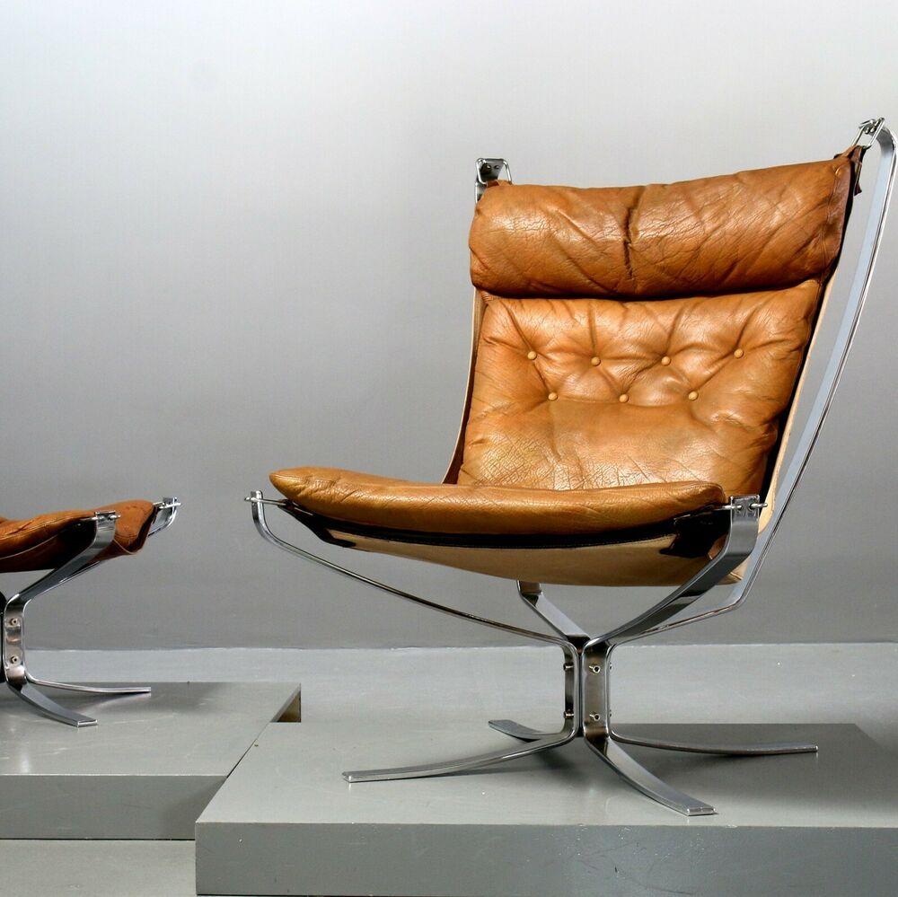 Falcon Chair Ottomane Sigurd Ressell Vatne Mobler Stahlrahmen Verchromt Ebay Mobler Interior Ebay