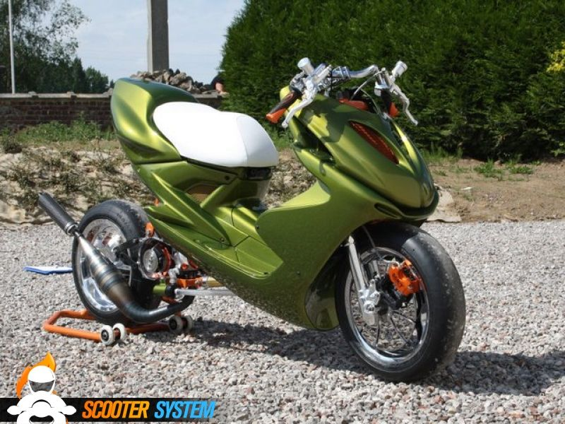 mbk nitro green drag scootters moped scooter scooter. Black Bedroom Furniture Sets. Home Design Ideas