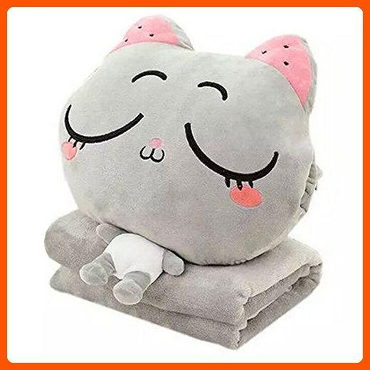 Kosbon 3 In 1 Cute Cartoon Plush Stuffed Animal Toys Throw Pillow