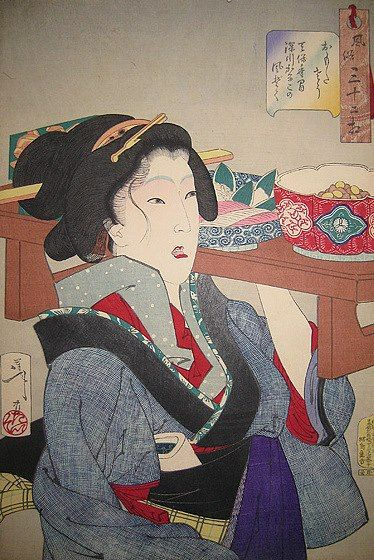 UKIYO - E.......BY TSUKIOKA YOSHITOSHI....PARTAGE OF ARTIST SALON OF…