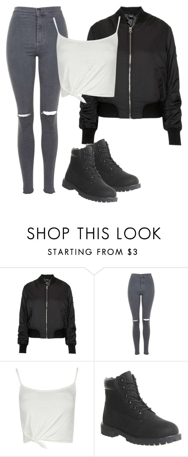 """Untitled #267"" by northwood ❤ liked on Polyvore featuring moda, Topshop y Timberland"