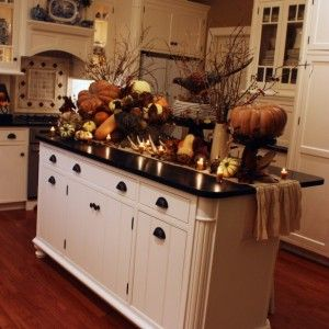 Rustic Primitive Kitchen Countertop With Fall Decorating Ideas ...