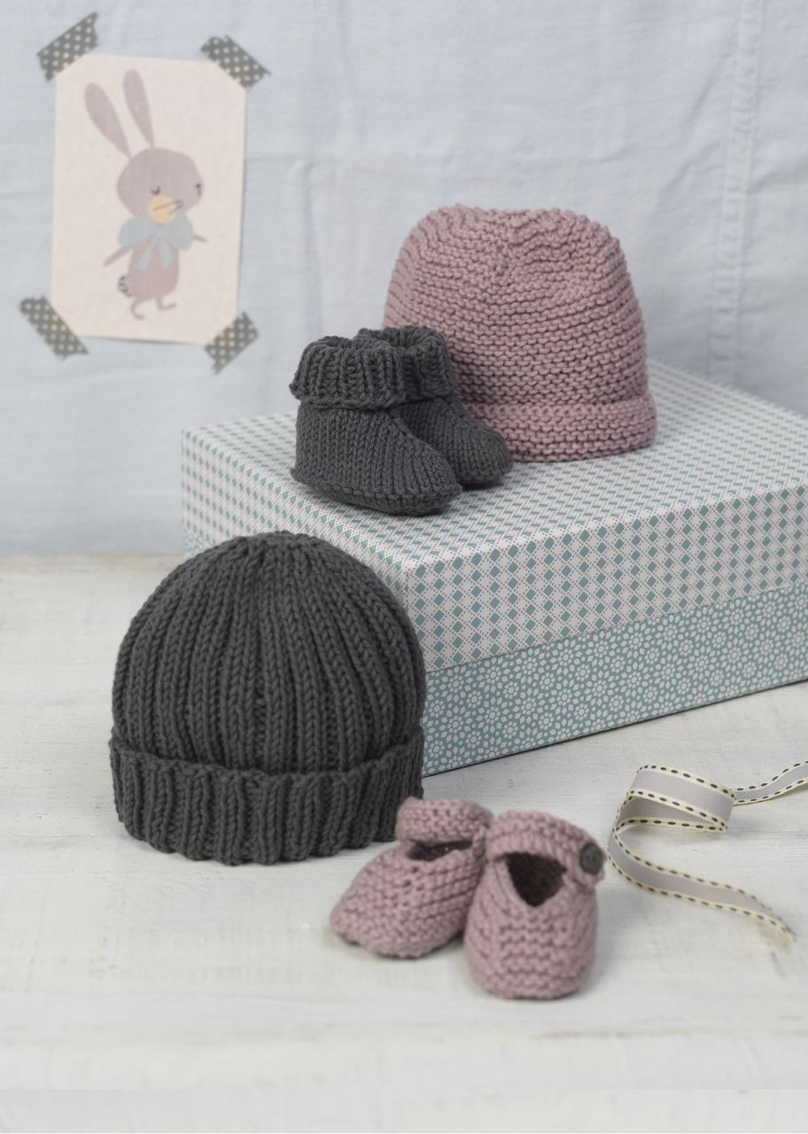 Erika Knight Bubble & Squeak Baby Hat and Shoes Knitting Pattern PDF ...