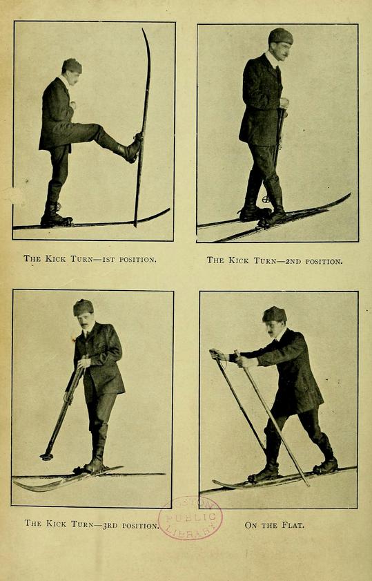"Illustration of the ""kick turn."""