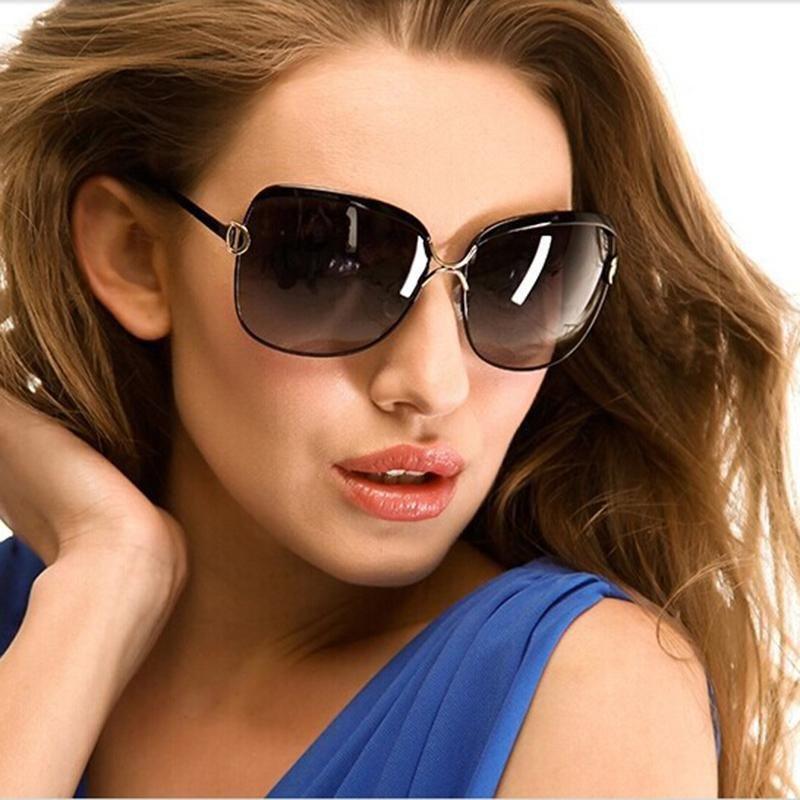 Female Brand Designer Sunglasses for women D Frame Party glasses ...