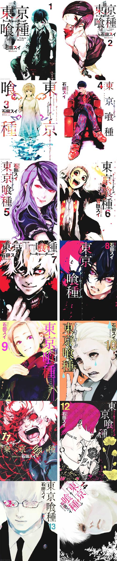 Tokyo Ghoul Volumes Tokyo Ghoul Anime Tokyo Ghoul Manga Tokyo Ghoul