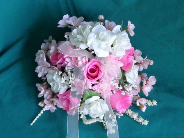 Pink Bridal Bouquet - Lizzies Craft Items