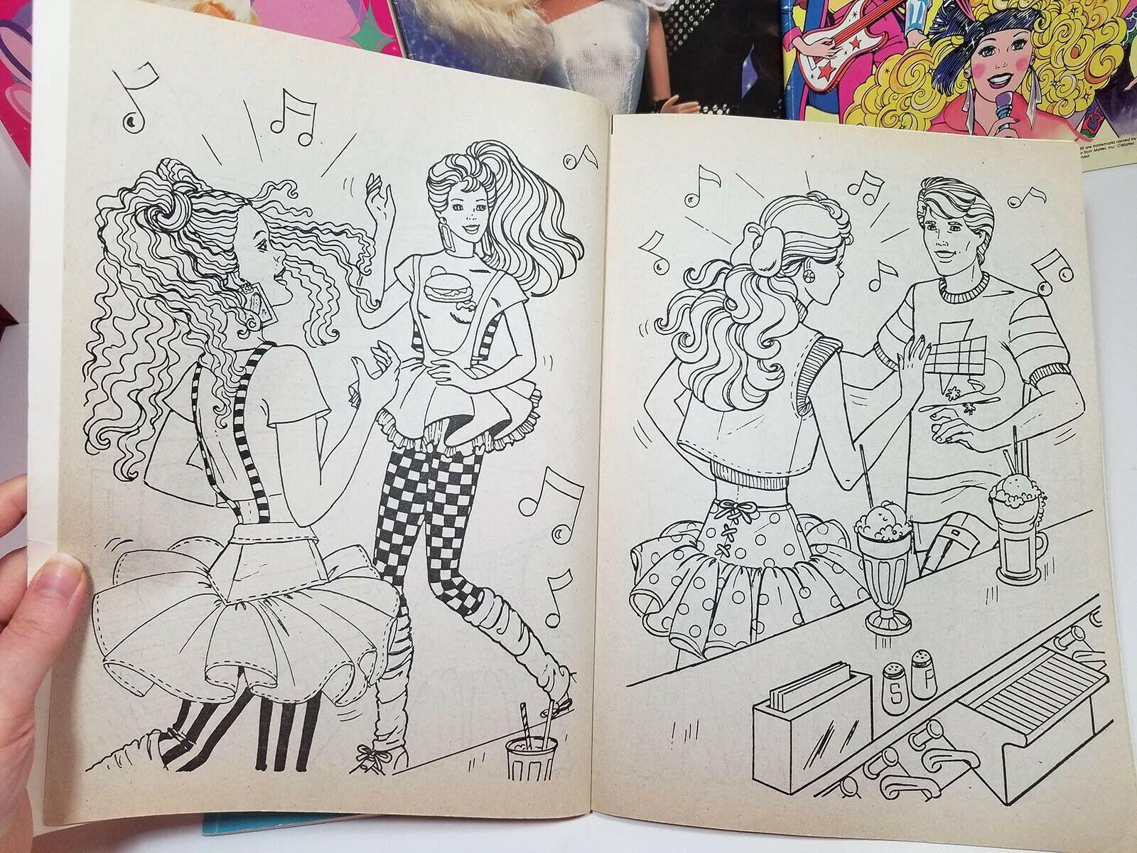 Barbie Coloring Books Lot Of 5 Vintage 80s 90s Cool Times Ballerina Ken Rockers 2 Vintage Coloring Books Barbie Coloring Kids Coloring Books