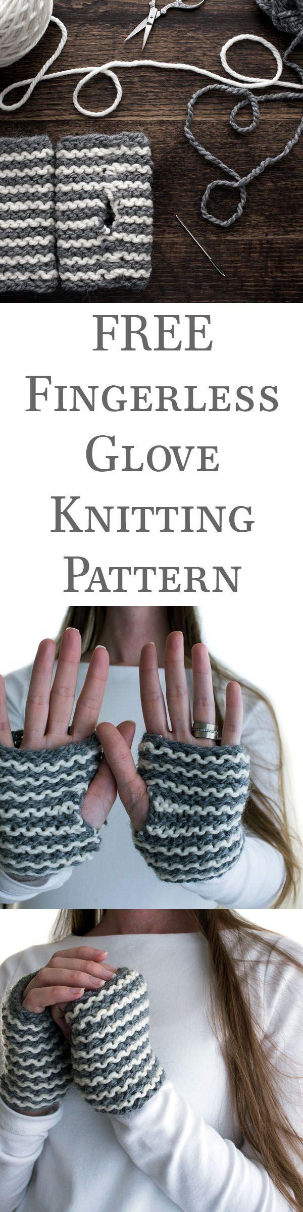 FREE Fingerless Glove Knitting Pattern | knitting | Pinterest | Tejidos