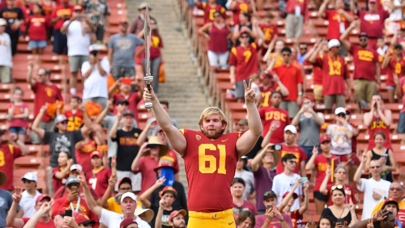 USC Trojans Jake Olson The journey to my first snap Usc