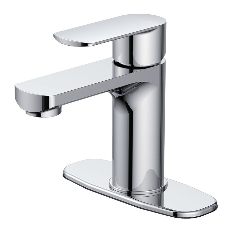 Jacuzzi Primo Chrome 1-handle Single Hole/4-in Centerset Bathroom ...