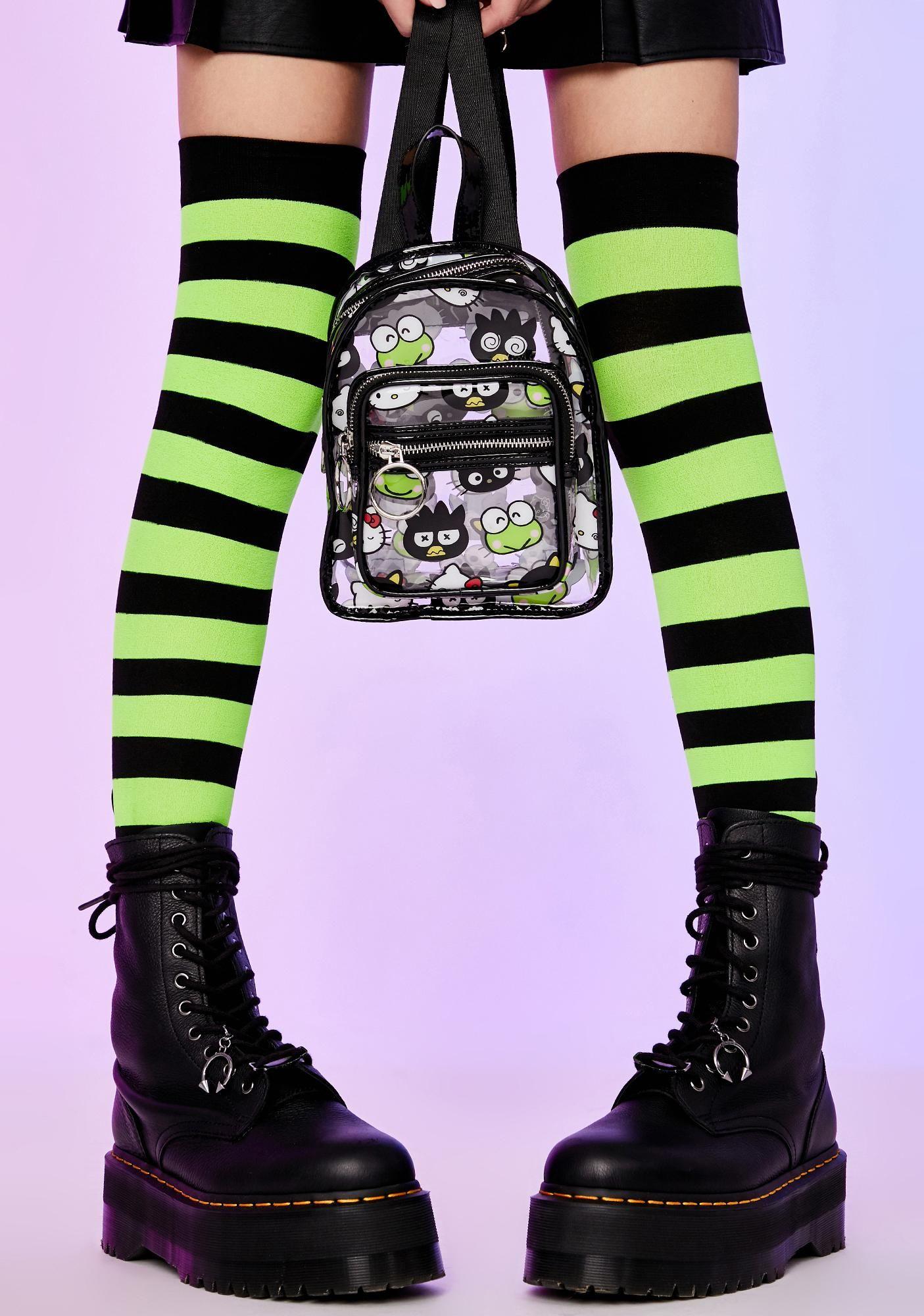 Dolls Kill Hello Kitty Clear Graphic Mini Backpack Kawaii